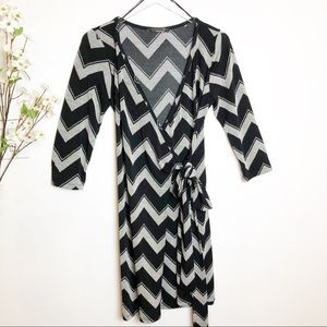 Renee C. | Stitchfix Chevron Wrap Tie Dress
